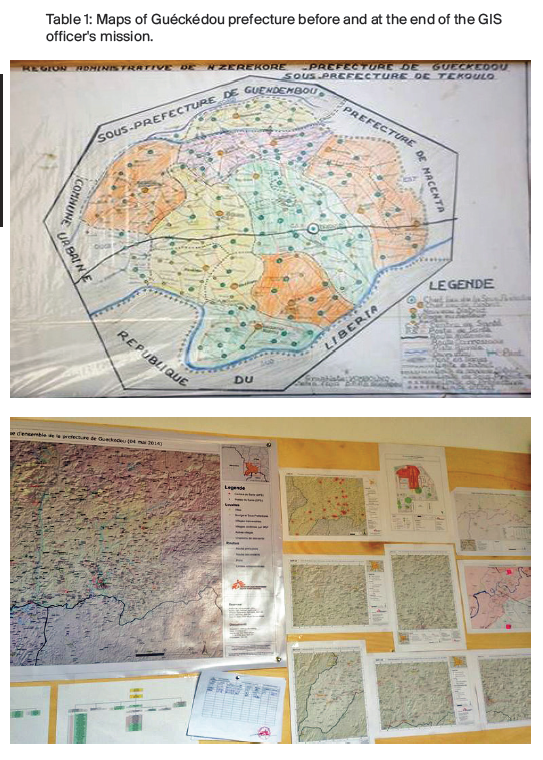 Maps of Gueckedou before/after