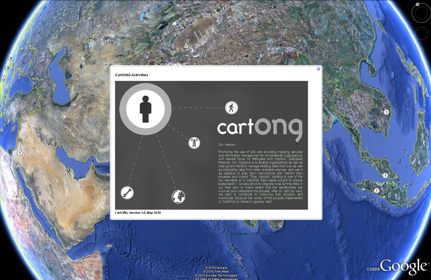 KMl projects CartONG